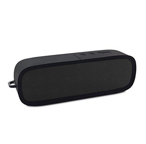 FANTEC Novi F20 Mobiler Bluetooth 4.1 Lautsprecher mit sattem Bass und eingebautem Mikrofon, schwarz