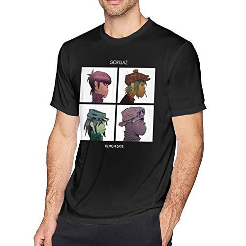 Patrick R Garrett Herren Kurzarm T-Shirt Gorillaz - Demon Days Bedruckte Athletic Casual T-Shirts für Herren Fashion Top