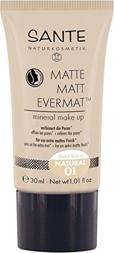 SANTE Naturkosmetik - Fonde de teint minéral, effet mat, végan, 30 ml