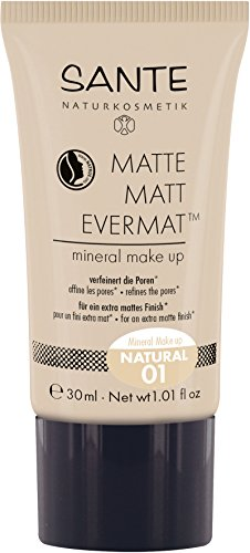 Sante Cosmetici naturali Matte Matt evermattm Mineral Make Up, effetto opaco, vegan (30 ML)