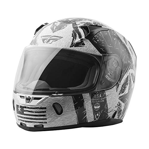 Fly Racing Revolt Helmet - Liberator (Medium) (White/Black)