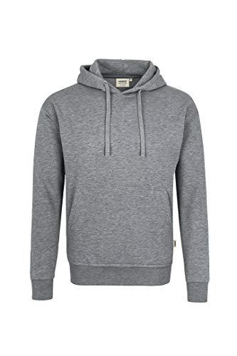 HAKRO Sweatshirt mit Kapuze - 601 - grau meliert - Größe: M