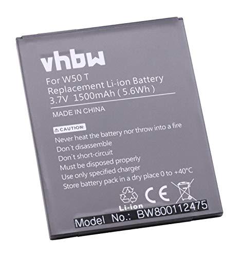 vhbw Li-Ion batteria 1500mAh (3.7V) per cellulari e smartphone Komu K5