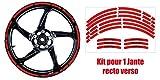 Kit de pegatinas de llanta retro reflectantes Triumph, para instalar en la carretera de tu moto para una mejor visibilidad, color rojo