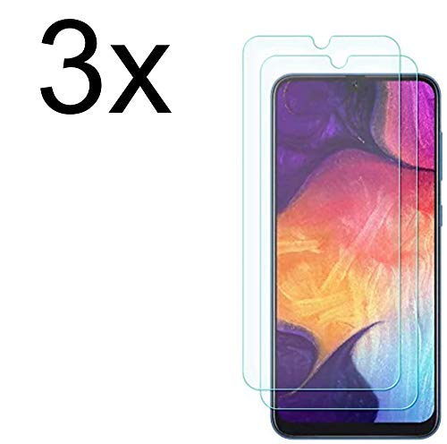 Weinstock-Science 3X Bruchsicheres Panzerglas für Samsung Galaxy A50 Panzerglasfolie Schutzfolie aus 9H Echt Glas Transparent