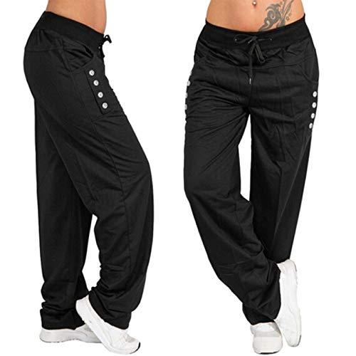 Pantalones Deportivos para Hombre, Holgados y cómodos, de Pierna Ancha, de Gran tamaño, para Correr, Hip-Hop, para Correr, Bolsillo con botón Personalizado, Pantalones elásticos con Cintura XXL