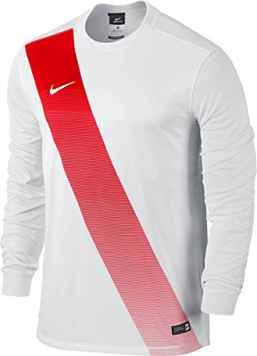 Nike Herren Jersey Sash LS Langarm Trikot, Football White, XL