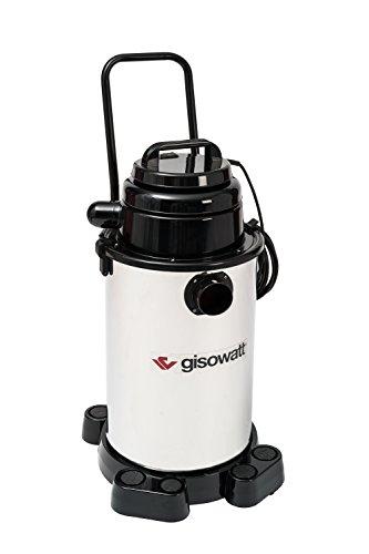 Gisowatt Industrial 30 Aspira-Tutto Wet & Dry & Blow con Carrello, 30 Litri, Inox