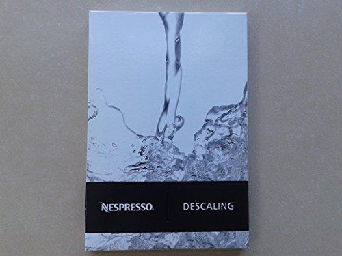 Nespresso descaling-set dkb2C4Für Inissia, U, Pixie, Citiz, Lattissima, Lattissima + Lattissima Pro Maestria, Gran Maestria Essenza, Le Cube