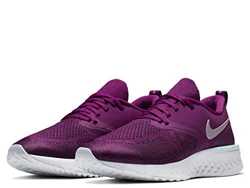 Nike Women's Odyssey React Flyknit 2 Running Shoes (8, Berry)