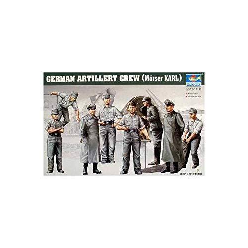 Trumpeter 00409 - Figuras Militares para Montar Artilleria Alemana Crew Morser Karl - Escala 1/35 - Maquetas de plastico para Montar - Pegamento no incluidos