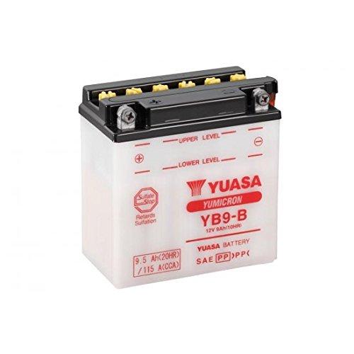 Yuasa - Batteria convenzionale YB9-B consegnata con pacco acido (codice articolo produttore 32YB9B-Acid)