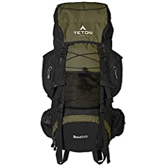 VERSATILE QUICK TRIP PACK: Just right for youth and adults for light backpacking trips; best for 2-4-day adventures; 3400 cubic inches (55 L) capacity; weighs 4.5 pounds (2 kg) COMFORT YOU CAN CUSTOMIZE: Multi-position torso adjustment fits wide rang...