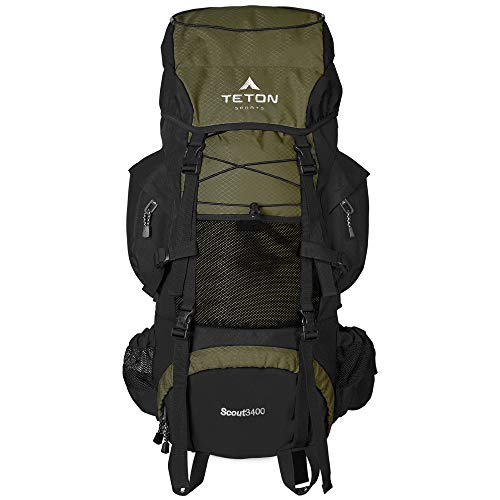 TETON Sports Scout 3400 Internal Frame Backpack; High-Performance Backpack for Backpacking, Hiking,...
