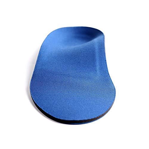 Lcjtaifu Komfort-Einlegesohle Einlegesohlen in voller Länge mit Fußgewölbe für Mittelfuß- und Fersenkissen zur Behandlung von Plantarfasziitis (Color : Blau, Size : M)