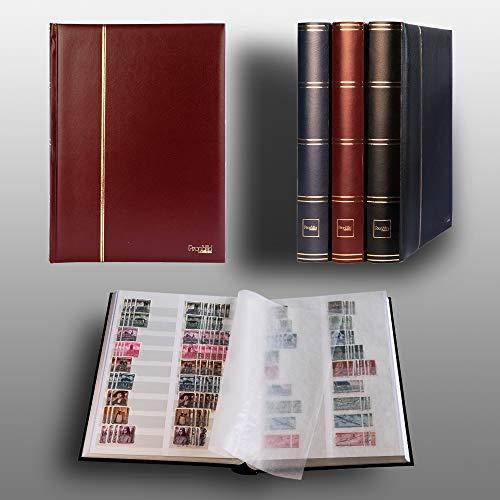 Prophila Leuchtturm clasificador 60 Paginas Blanco y Bandas DIVIDIDAS, Rojo Colore