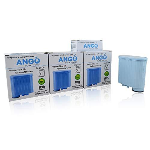 4x Wasserfilterpatronen ersetzen Saeco & Philips AquaClean CA6707, CA6903, CA6903/00, CA6903/01, CA6903/99 Filter, kompatibel mit Saeco Kaffeemaschinen - PureWater Ango-CF9 Kartusche