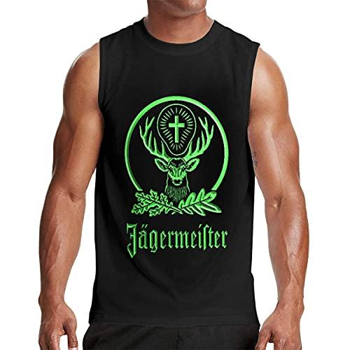 hengtaichang Jagermeis-TER Men's T Shirts Sleeveless Round Neck Tank Top T Shirt Graphic T-Shirt