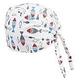 Exceart 2 Stück Chirurgische Peeling Kappe Bouffant Turban Kappe Haarabdeckung Schweißband Medizinische Kopfbedeckung für Frauen