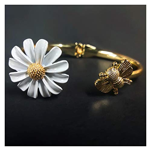WanXingY Vintage Chrysanthemum Flower Silver Metal Plant Daisy Brooch Women Men's Jewelry Gift Coat Accessories Brooch (Color : 4 BRACELET)