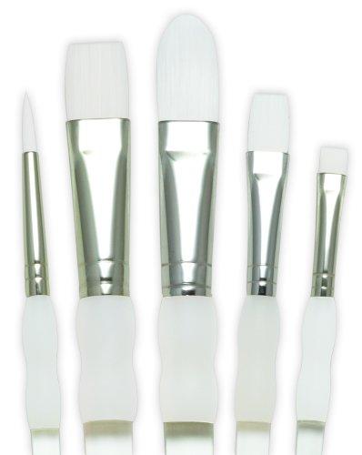 Royal & Langnickel - Juego de pinceles de fibra de taklon (5 unidades, puntas variadas)