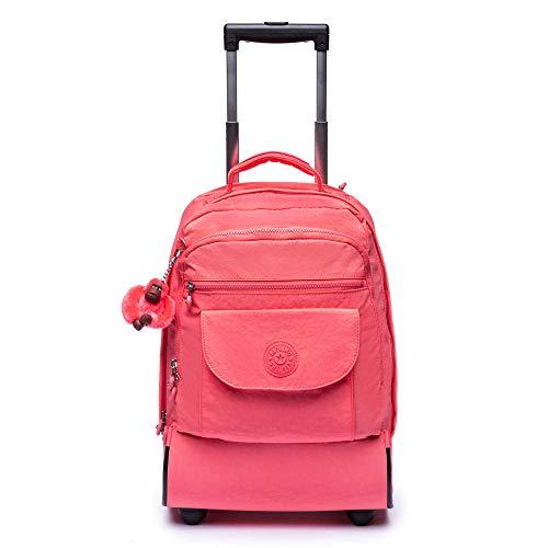 Kipling Sanaa Large Rolling Backpack Grapefruit Tonal