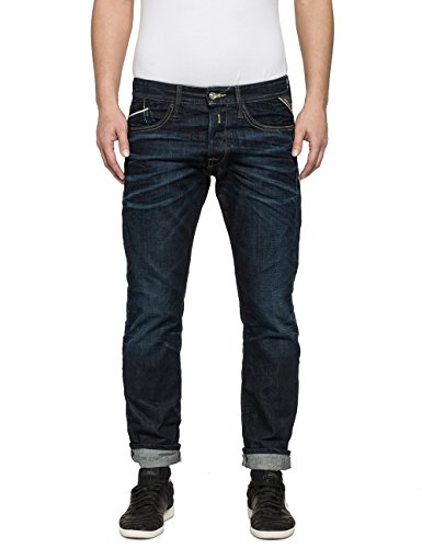 REPLAY Waitom Slim Jeans, Azul (Blue Denim 7), 30W x 32L para Hombre