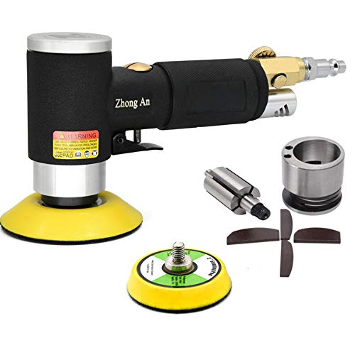 Upgrated 2' 3 inch Orbital Sander Air Mini Da Sander Air Polisher 15,000 RPM Super Smooth and Swirl Freely