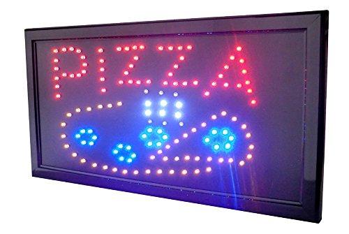 INSEGNA LUMINOSA A LED CON SCRITTA E DISEGNO PIZZA. IDEALE DA METTERE IN VETRINA