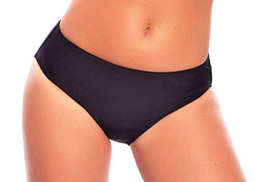 Versandhandel Henry Musch-Malinowski Damen Schwimm-Badeslip/Bikini Slip/Badehose/Baderock mit integriertem Slip Schwarz Verschiedene Varianten und Größen f5384 Farbe: S4(sw) Bikini Slip Black, Gr. 50