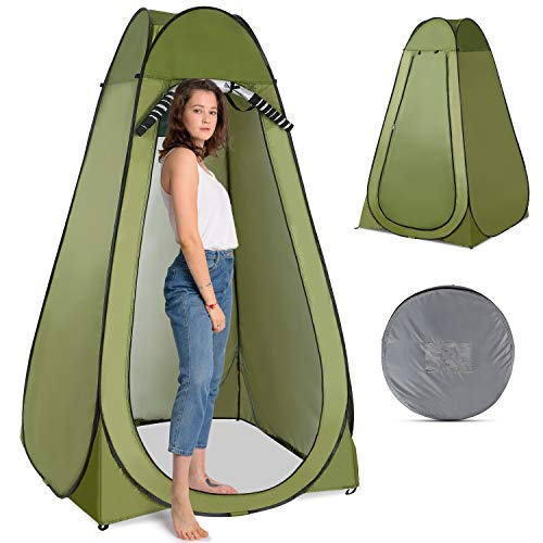 Lixada Outdoor 1,83 m, vaso sanitário, chuveiro de acampamento, espaço para troca portátil