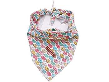 Unique Style Paws 1 bandana pour chien lavable en coton carré réglable pour chiens et chats de petite taille