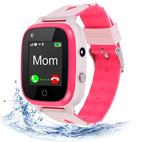 4G Kids Smart Watch,Kids Phone Smartwatch w GPS Tracker,Call,Alarm,Pedometer,Camera,SOS,Touch Screen WiFi Bluetooth Wrist Watch Boys Girsl iPhone iOS Android,3-12 Years Old Children Student Gifts