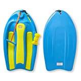 ZUP Coast Board All-in-One Kid's Wakeboard with Rope Handle, Trainer Board, Kneeboard and Water Skis for Water Sports, Boating, Blue