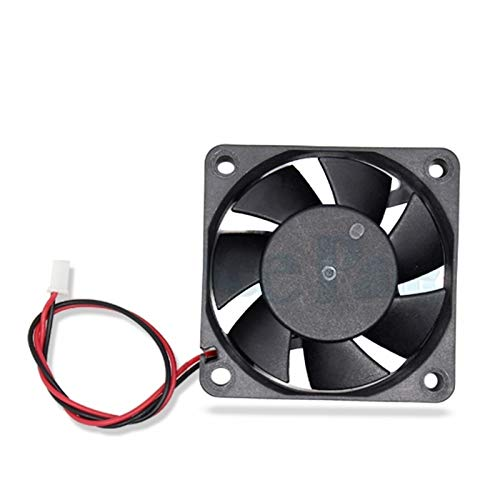 HUANRUOBAIHUO 5pcs/lot 6015 Cooling Fan 12 Volt 60 * 60 * 15 mm for 3D Printers 3 pin Brushless 6CM DC Fans Cooler Radiator Part Quiet Accessory 3D Printer Parts
