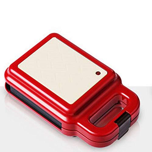 CHAN Up To Date 600W Elektrische Waffeleisen Sandwich Maker Frühstück Waffeleisen Kuchen Toaster Backautomaten 220V,Rot