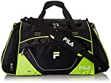 "Fila Acer 25"" Sport Duffel Bag, Black/Neon Green, One Size"