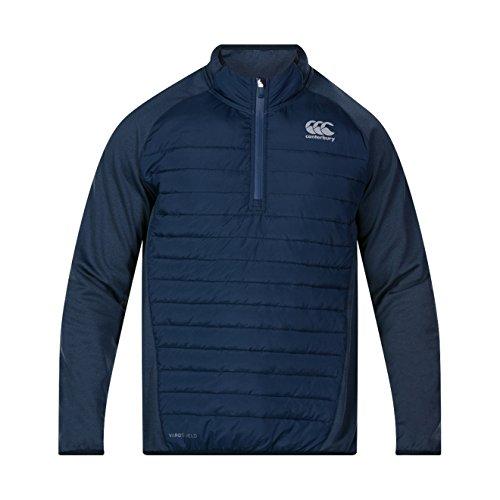 Canterbury Vaposhield Hybrid 1/4 T-shirt pour homme M Bleu marine