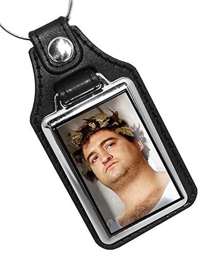 Brotherhood John Belushi Toga Faux Leather Keychain Key Holder Key Ring for Men Heavy Duty Car Keyring for Men and Women