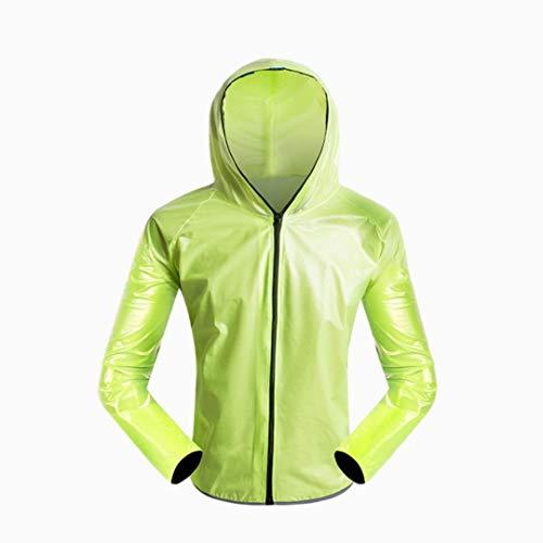 YERIN Chubasquero para motocicleta, impermeable, para deportes al aire libre, impermeable, para montar y montar en coche, unisex, color verde, talla M