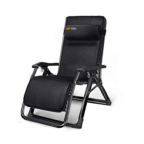 SBDLXY Folding Reclining Chair Leisure Lounge Chair Zero Gravity Folding Sloping Chair for Outdoor Travel Beach Camping Deck Chair Indoor Lunch Break Lazy C