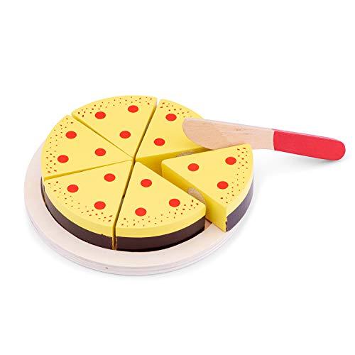 New Classic Toys Gâteau à Découper en bois Jeu d'Imitation Éducative pour Enfants - Crème