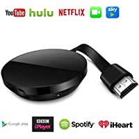 WiFi Dongle inalámbrico con Pantalla,HDMI 1080P Digital TV Adaptador de Receptor, Soporte del Sistema Android para Google App Chromecast Compatibilidad con i-Phone/Airplay/Miracast/DLNA