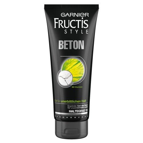 Garnier Fructis Haargel Beton / Gel für die Haare für unerbitterlichen Halt und unzerstörbare Looks (mit Vitaminen - Haltegrad 10) 6er Pack - 200 ml