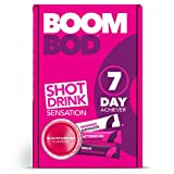 Boombod Diet Shot Drink, 21 Sachets – Blackcurrant Flavor – Metabolism Support Drink – Limit Cravings - Gluten, Dairy, Sugar Free - 10 Calorie Sachets – Glucomannan