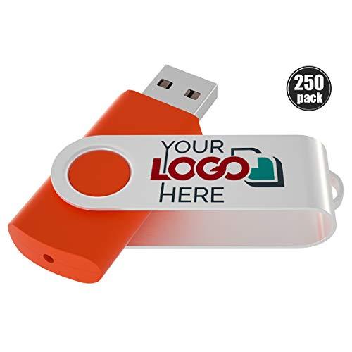 Possibox Personalisiert Twister USB Stick 2GB Bedruckte mit Ihrem Logo/Text - Werbeartikel - USB 2.0 Orange 250 Stück