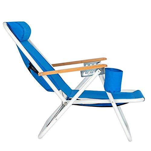 IUYJVR Tragbarer Klappstuhl für den Außenbereich, Verstellbarer Strandkorb mit hoher Belastung, schnell klappbar, Klapphocker mit hoher Rückenlehne, geeignet zum Angeln, am Meer
