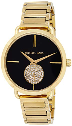 Michael Kors Women's Portia Watch Analog-Quartz Stainless-Steel Strap, Gold, 16 (Model: MK3788)