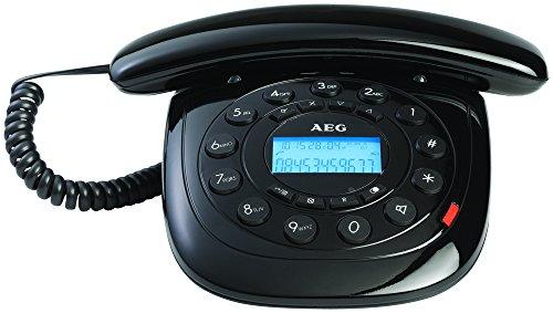 AEG Style 12 Retro Line - Teléfono, negro