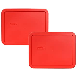 Pyrex 7211-PC Red 6 Cup Rectangular Plastic Lid (2 Pack) (B01CMYGWPS)   Amazon price tracker / tracking, Amazon price history charts, Amazon price watches, Amazon price drop alerts